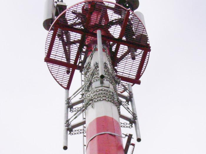Soporte de parábola de torre de radar
