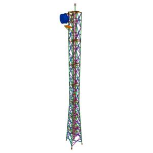 Torre telecomunicaciones para S/E eléctrica